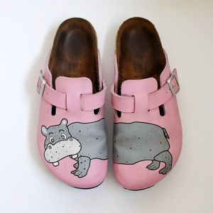 Birkenstocks Birki's Pink Kay Hippo Mules Clogs